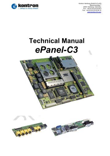 Kontron ePanel-C3 Drivers Windows 7