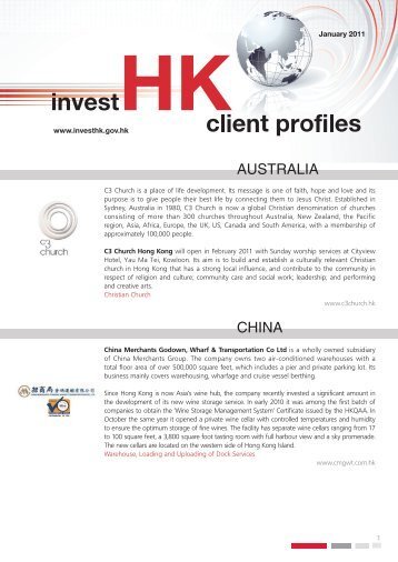 Hong Kong Foreign Direct Investment Issue ... - Invest Hong Kong