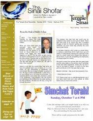 October 2012 - Temple Sinai of Las Vegas