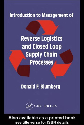 Introduction to Management of Reverse Logistics and Closed Loop ...