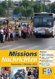 Nachrichten 2012-5 - Missionswerk FriedensBote