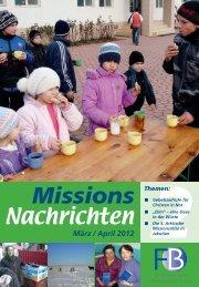 Nachrichten 2012-2 - Missionswerk FriedensBote