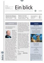 editorial impuls - Stiftungen Sarepta   Nazareth