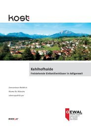 Kehlhofhalde Freistehende Einfamilienhäuser in Adligenswil - GEWAL