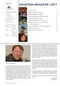 Rundbrief Elim Aktuell Juni 2011 als PDF ansehen - Diakonische ... - Page 2