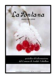 anno 2010 numero 2 (1^ parte) - Comune di Andalo Valtellino