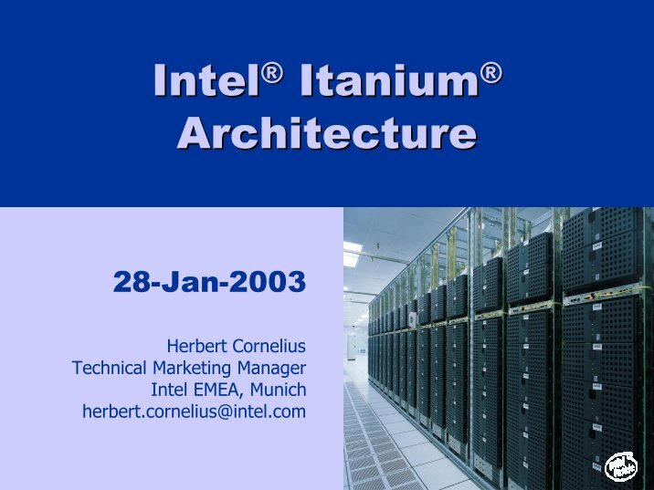 intel itanium arcgitecture Free computer architecture papers, essays, and research papers.