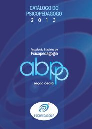 ABPp-Ce 2013 - Associação brasileira de psicopedagogia – Seção ...
