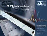 RT-2M Audio Analyzer