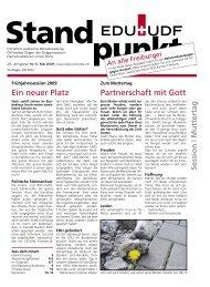 Partnerschaft mit Gott Ein neuer Platz - EDU Schweiz