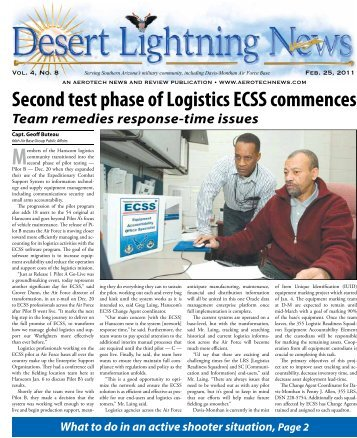 Second test phase of Logistics ECSS commences - Aerotech News ...