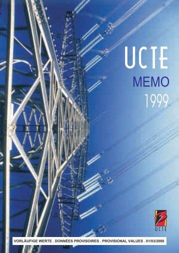 Memo UCTE pour l'année 1999 - Montefiore