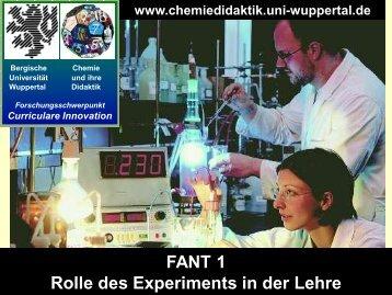 Experimente im Chemieunterricht - Chemie und ihre Didaktik ...
