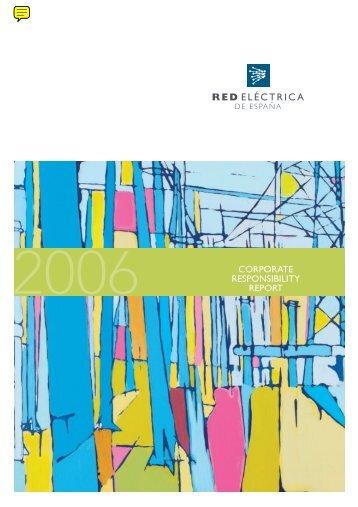 CR Annual Report 2006 - Red Eléctrica de España