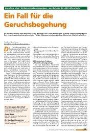Ein Fall für die Geruchsbegehung - AVA-Altenrhein