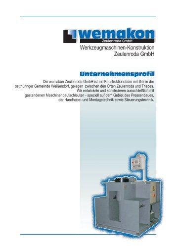 Unternehmensprofil - wemakon Zeulenroda GmbH