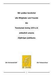 Festzeitschrift 25 Jahre - TC-Inning