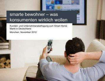 Beitrag Smarte Bewohner: Was Konsumenten ... - Connected Living