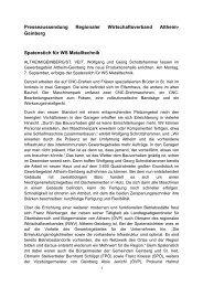 Presseinformation - Regionaler Wirtschaftsverband Altheim-Geinberg