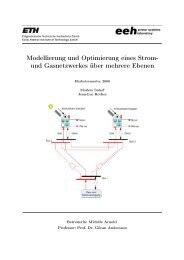 Modellierung und Optimierung eines Strom- und ... - EEH - ETH Zürich