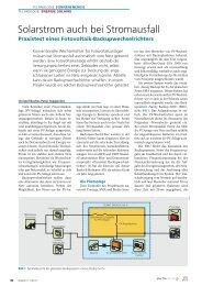 Solarstrom auch bei Stromausfall - Basler & Hofmann