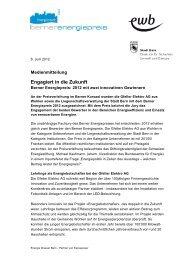 Engagiert in die Zukunft - Energie Wasser Bern
