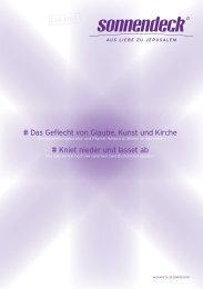 # Das geflecht von glaube, Kunst und Kirche # Kniet ... - Sonnendeck
