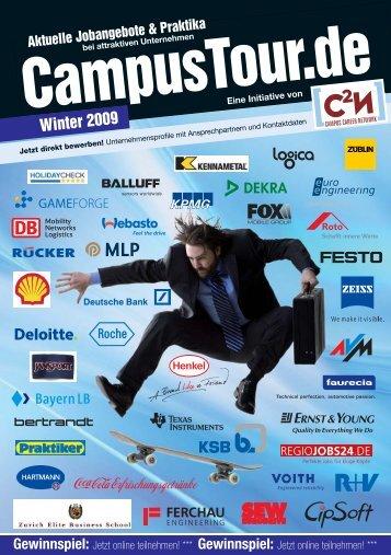 Tourhandbuch Winter 2009 - CampusTour.de