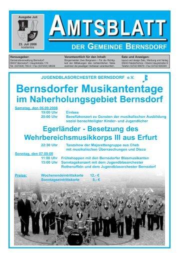 Bernsdorfer Musikantentage - Bernsdorf im Erzgebirge