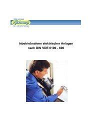 Inbetriebnahme elektrischer Anlagen nach DIN VDE 0100 - 600