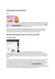 Marketing Trends für 2012 Welche Marketing Trends erwarten ... - GfM