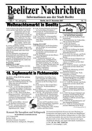 Informationen aus der Stadt Beelitz - Die Homepage der