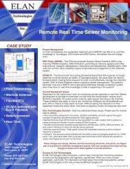 Remote Real Time Sewer Monitoring - Elan Technologies Inc