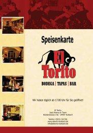 Speisenkarte - El Torito