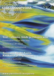 Vesi – elämän lähde ja riitojen aihe Teemana ... - Suomen YK-liitto