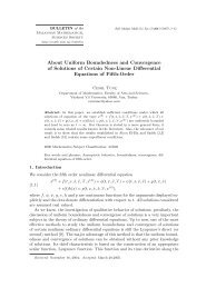 About Uniform Boundedness and Convergence of Solutions of ...