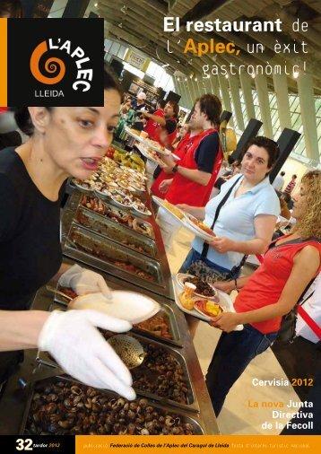 El restaurant de l'Aplec, un èxit gastronòmic! - Aplec del Caragol