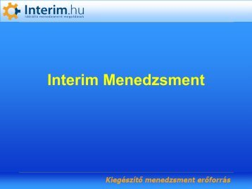 Az interim managementr?l