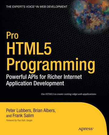 Peter Lubbers - Pro HTML 5 Programming