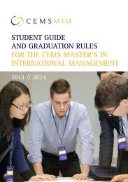 Student Guide CEMS MIM 2013-14