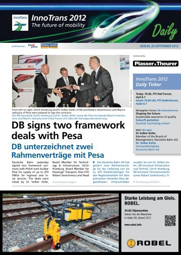 DB signs two framework deals with Pesa - Railway Gazette