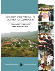 community-based approach to education for sustainability