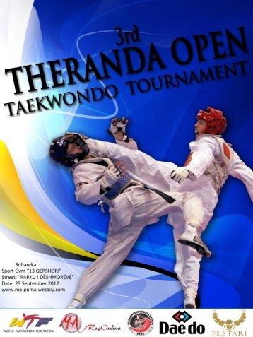 3rd THERANDA OPEN TAEKWONDO ... - Ma-regonline.com