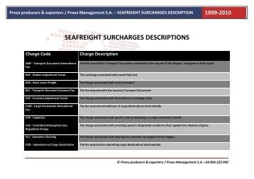 SEAFREIGHT SURCHARGES DESCRIPTIONS - proex.es