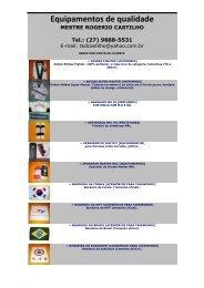 Equipamentos de qualidade - Associação Castilho TKD