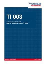 Technische Information SIGLA begehbar / SIGLA TREP