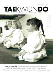 med eller uden dobok - Dansk Taekwondo Forbund
