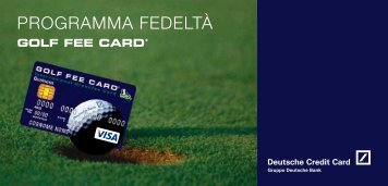 Guida Programma Fedeltà - Carte di Credito Deutsche Credit Card