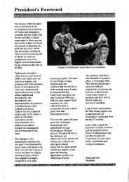 Taekwondo Australia Annual Report 1999-2000 - Australian Sports ...