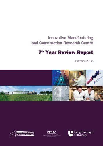 2008 7th Year Review Report - Loughborough University